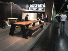 Extremis design adorned their stand at Orgatec 2016 with excellent outdoor furniture collection. #Orgatec2016