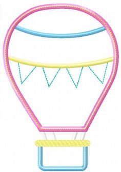 Hot Air Balloon 1 Machine Embroidery Design by HappytownApplique on Etsy https://www.etsy.com/listing/155653958/hot-air-balloon-1-machine-embroidery