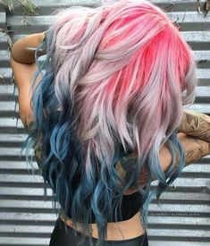 Are you looking for dark blue hair color for ombre and teal? See our collection full of dark blue hair color for ombre and teal and get inspired! Hair Dye Colors, Hair Color Blue, Cool Hair Color, Ombre Colour, Pastel Hair Colors, Rainbow Hair Colors, Pastel Blonde, Crazy Color Hair Dye, Wild Hair Colors