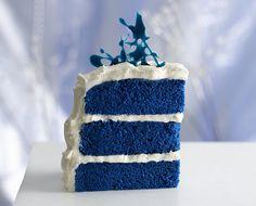 Royal Blue Velvet Cake Recipe by Betty Crocker Recipes...pretty!