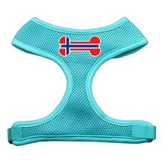 Mirage Pet Products Bone Flag Norway Screen Print Soft Mesh Dog Harnesses, Small, Aqua * Details can be found by clicking on the image. (This is an affiliate link and I receive a commission for the sales)