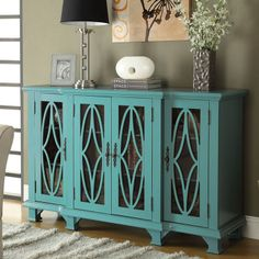 Chloe Cabinet -fabulous blue + love the window panes
