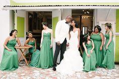 Seeing green 💚💚💚. Love love love this #Barbados wedding 📷@lifephotographybyaniya  and planned by @shalanawatermandesigns. #bridesmaids #apbridesmaids #bridesmaiddresses #greenbridesmaids