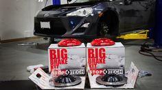 Scion FR-S Gets Big Brakes Kit Installed by SR.