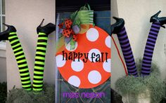 Cute Halloween idea! How cute would this be outside of the classroom door!?!?!