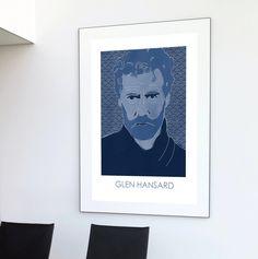 Glen Hansard | music poster | llustration art | Glen Hansard art | Glen Hansard, White Velvet, Concert Posters, Minimalist Design, Album Covers, Compliments, Fine Art, Music, Illustration
