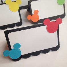 12 Mickey Mouse Clubhouse Food Labels  by TwoBlueBalloons on Etsy