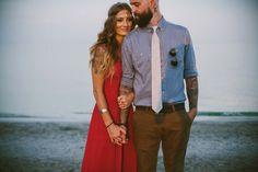 Bright & Bold Bohemian Engagement Shoot  Stylish Couple