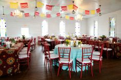 colorful table cloths - different colors and patterns Wedding Reception Seating, Always A Bridesmaid, White Backdrop, Wedding Album, Wedding Images, Save The Date, Wedding Colors, Wedding Inspiration, Wedding Ideas