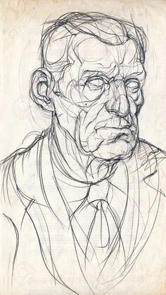 hand drawing picture, pencil, an old man face Stock Photo - 14825164