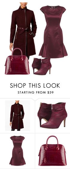 """Ruffle Dress"" by sillycatgrl ❤ liked on Polyvore featuring Vince Camuto, Michael Antonio and Hermès"