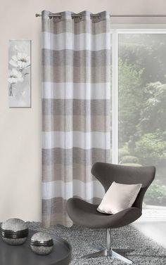 Perdea Emily 140X250 Natural/Maro 1 buc #homedecor #inspiration #interiordesign #decoration #livingroom Curtains, Shower, Natural, Modern, Design, Interiors, Neutral, Rain Shower Heads, Blinds
