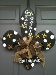 New Orleans Saints Fleur De Lis Door Hanger