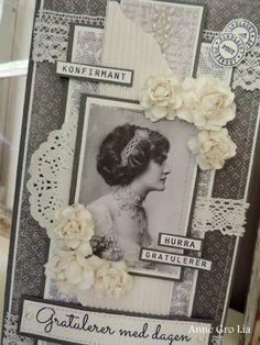 Scrappiness: Konfirmantkort til jente Frame, Cards, Decor, Picture Frame, Decoration, Frames, Dekoration, Map, Inredning