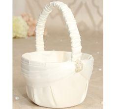 Charming Pearls Flowergirl Basket   Flowergirl Baskets