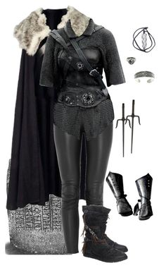 A fashion look from February 2017 featuring Faith Connexion pants, Carolina Glamour Collection rings and Goti rings. Browse and shop related looks. Medieval Dress, Medieval Clothing, Outfits For Teens, Cool Outfits, Fashion Outfits, Warrior Outfit, Warrior Fashion, Weiblicher Elf, Elfa