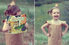 World Book Day costume ideas - Book: The Paper Bag Princess - goodtoknow Looking for World Book day ideas for a costume that your child is bound to adore? We've rounded up some of our favourites. Teacher Halloween Costumes, Last Minute Halloween Costumes, Halloween Cosplay, Halloween Crafts, Halloween Ideas, Storybook Character Costumes, Storybook Characters, World Book Day Costumes, Book Week Costume