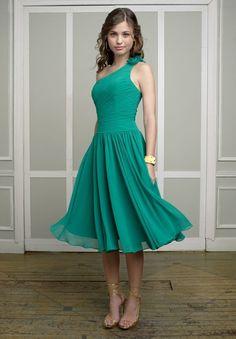 eed0d9209ee1 Chiffon One-Shoulder A-Line Short Bridesmaid Dress Tea Length Bridesmaid  Dresses