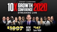 10X GROWTH CONFERENCE - SOLD OUT (WATCH THE LIVE STREAM) from the comfort of your own sofa.Reserve Your Spot Now Below!   Every year, the 10X Growth Conference brings the foremost elite leading-edge entrepreneurs in their fields to share the strategies of tomorrow with you for high-impact and actionable plans designed for immediate implementation in your business and life.  #growthconference #business #marketing #10x #grantcardone #sales #conference #digitalmarketing Marketing Tools, Business Marketing, Online Business, Digital Marketing, Tomorrow With You, Grant Cardone, Business Goals, Plan Design, Conference