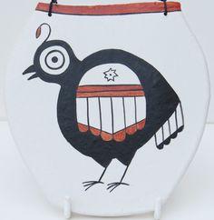 southwestern spirit pueblo quail bird pottery by MokiTradingPost