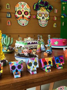 Mexican Party, Birthday Decorations, Concept, Babies, Skull Cakes, Neon Birthday, Anniversary Decorations, Mexican Skulls, Day Of The Dead