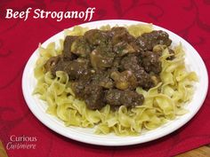 Beef Stroganoff from Curious Cuisiniere