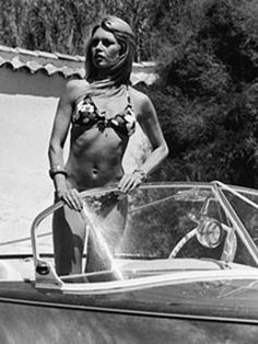 Brigitte Bardot in her Riva