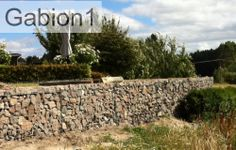 Rustic gabion retaining wall, Low Cost gabions Cheaper than block stone gabion walls are easy to build  http://www.gabions.co.nz