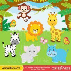 Imágenes Prediseñadas de Safari de animales Imágenes por Cutesiness
