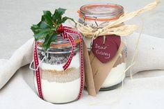 gingerbread & choc cookies in a jar with UK/metric measures