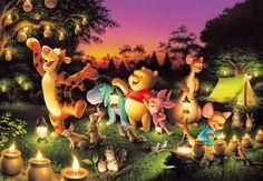 D-2000-527 Tenyo Disney Winnie the Pooh Party Japan Jigsaw Puzzles