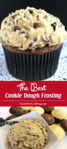 This is definitely The Best Cookie Dough Frosting we have ever tasted and it is so easy to make. Not to sweet, chocolately and delicious. And did we mention eggless? It is the perfect frosting for cupcakes, cakes or even brownies! It would also be great as an Chccolate Chip Cookie Dough dip! Pin for later and Follow us for more great Homemade Frosting Recipes.