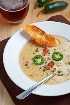 Jalepeno Beer Cheese Soup- I see this with Arkose Ale