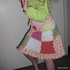 Amelia ~ a wrap top skirt crochet pattern by Jessie Rayot