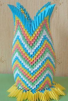 Карандашница - модульное оригами. Схема сборки.  #сделай_сам #ручнаяработа #рукоделие #хобби #handmade #сделать #хендмейд #оригами
