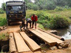 Road maintenance hard at work in eastern Sierra Leone (March Overland Truck, West Africa, Sierra Leone, March, Island, Islands, Mac, Mars