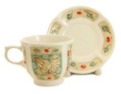 $22.00 Byzantium Cup & Saucer Set from the Ceramic Workshop of St. Elisabeth Convent - To learn more: http://catalog.obitel-minsk.com/ceramics-workshop Worldwide Delivery - #CatalogOfGoodDeeds #pottery #ceramic #handmade #order #purchase #buy #gift #souvenir #present #cup #mug #sauser #plate #teaset