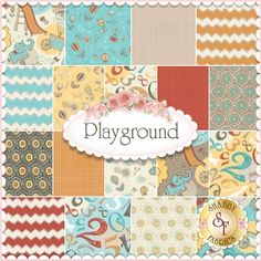 Playground By Vita Mechachonis For Camelot Fabrics - Yardage: Playground is a modern children's collection by Vita Mechachonis for Camelot Fabrics. 100% Cotton. This collection will feature 18 SKUs.  Expected Arrival Date Is July 2014
