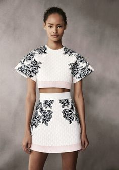 """""""Spring Uncovered,"""" Malaika Firth photographed by Patrick Demarchelier for Vogue UKFebruary 2014 in Balenciaga S/S 2014"""