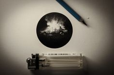 Black And White Miniature Drawings By Mateo Pizarro http://designwrld.com/black-and-white-miniature-drawings-by-mateo-pizarro/