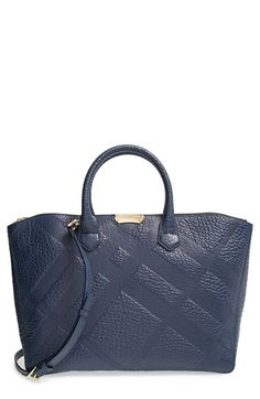 Burberry 'Medium Dewsbury' Check Embossed Leather Tote available at #Nordstrom