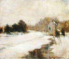 john henry twachtman paintings | File:Twachtman John Winter in Cincinnati.jpg