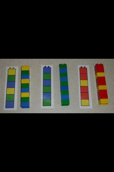 Lego Math Centers - want to go back to this site and try the link again (didn't work today) Lego Math, Lego Duplo, Math Classroom, Kindergarten Math, Fun Math, Teaching Math, Preschool Activities, Legos, Montessori