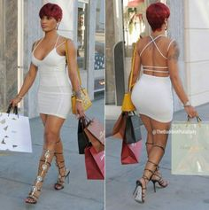 Reality star Joseline Hernandez goes shopping in a freakum dress
