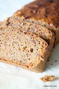 Ontbijtkoek van boekweit- en amandelmeel