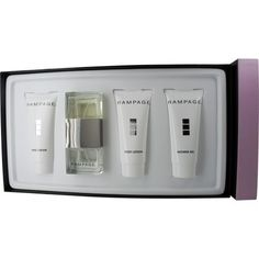 RAMPAGE by Rampage Perfume Gift Set for Women (EAU DE PARFUM SPRAY 3 OZ & BODY LOTION 5 OZ & HAND CR by Rampage. $40.59. Recommended Use: casual. Concentration: Eau De Parfum. Size: -. 100 % Genuine Fragrance.. 100% Authentic RAMPAGE by Rampage Perfume Gift Set for Women (EAU DE PARFUM SPRAY 3 OZ & BODY LOTION 5 OZ & HAND CREAM 5 OZ & SHOWER GEL 5 OZ). Manufactured by the design house of Rampage. RAMPAGE for WOMEN possesses a blend of melons and citrus blend with watery floral...