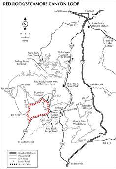 [graphic] Map showing tht location of Honanki and Palatki