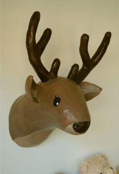 DIY - Cabeza de ciervo de papel maché / Paper mache Deer head - cabeza_ciervo_papel_mache