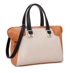 JSR Ladies' Two Tone Handbag/Shoulder Bag - Brown [170435] - $40.00