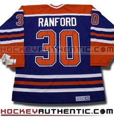 Bill Ranford Edmonton Oilers CCM vintage jersey | Hockey Authentic